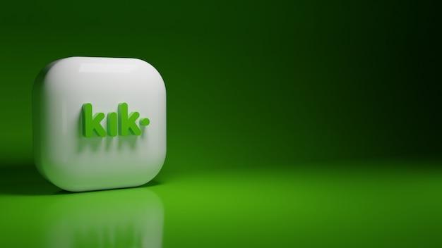 3d логотип приложения kik