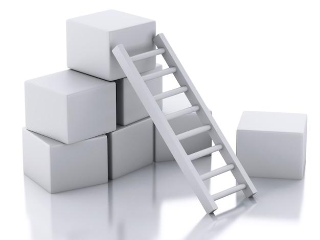3d лестница. бизнес-концепция.
