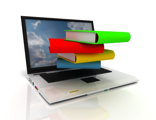 3d 노트북과 책