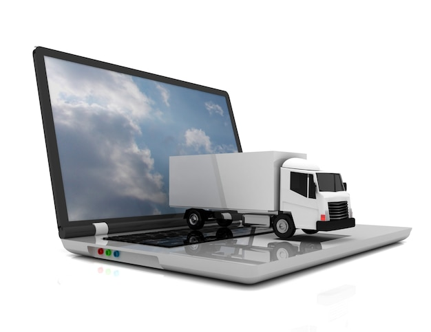 3d 노트북 및 truck.3d 그림