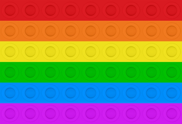 3d-рендеринг. lgbt радуга красочный круг шаблон стены фон.
