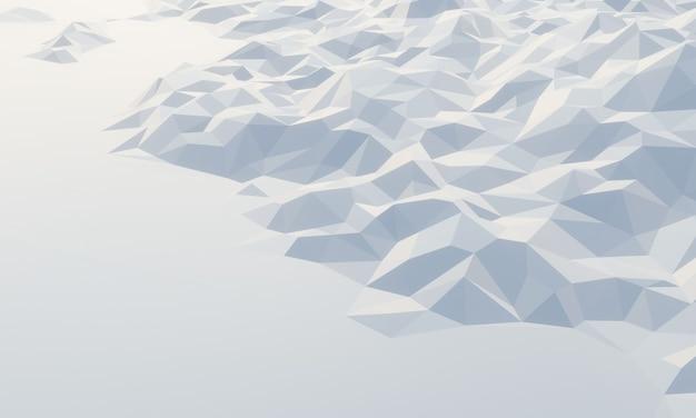 3d низкополигональная ледяная гора.
