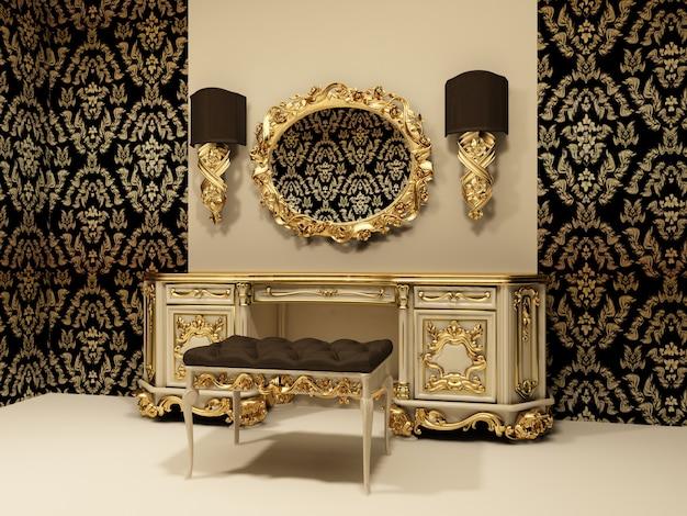 3d luxury интерьер комнаты