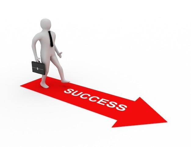 成功への道の3d男