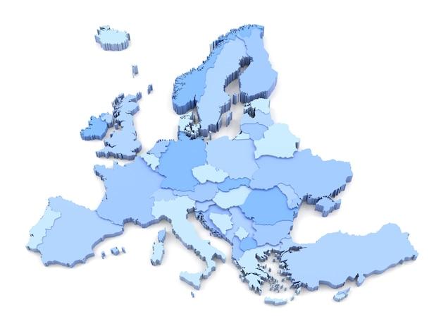 ヨーロッパのすべての国の3dマップが含まれています。