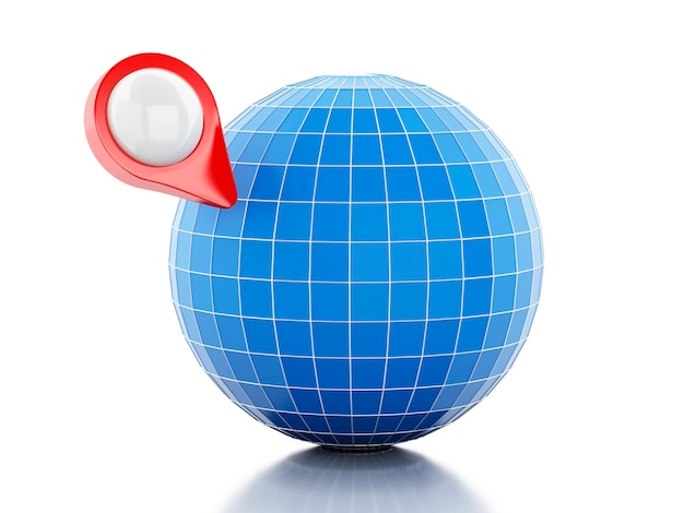 3d map pointer and globe