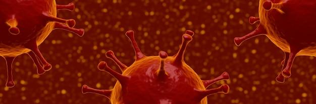 3차원, 현미경, covid19, 유행성 바이러스, 발발