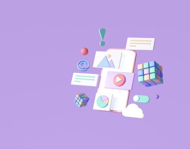 3dモバイルアプリ開発、アプリケーション構築、アプリテスト