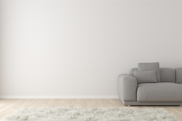 3d mock up interior scene with copy space