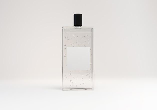 3d mock up render of bottle