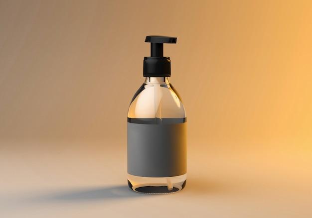 3d mock up render of soap bottle