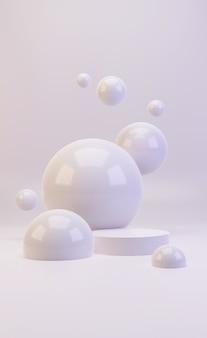 3d макет белого минималистичного подиума для презентации продукта