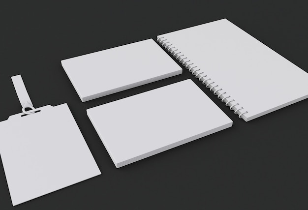 3d mockup elements. template for branding identity.