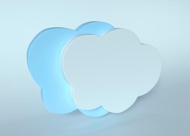 Modello 3d di nuvole