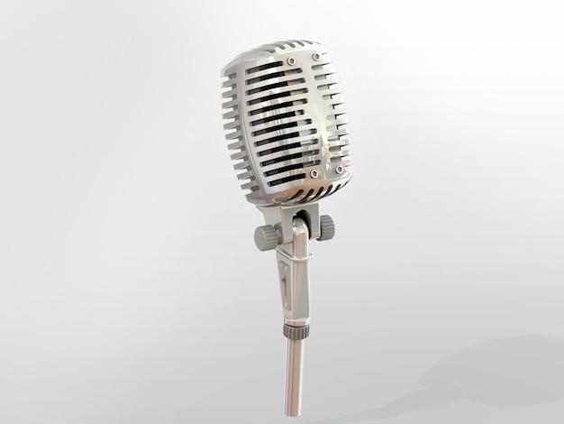 3d модель классического студийного микрофона