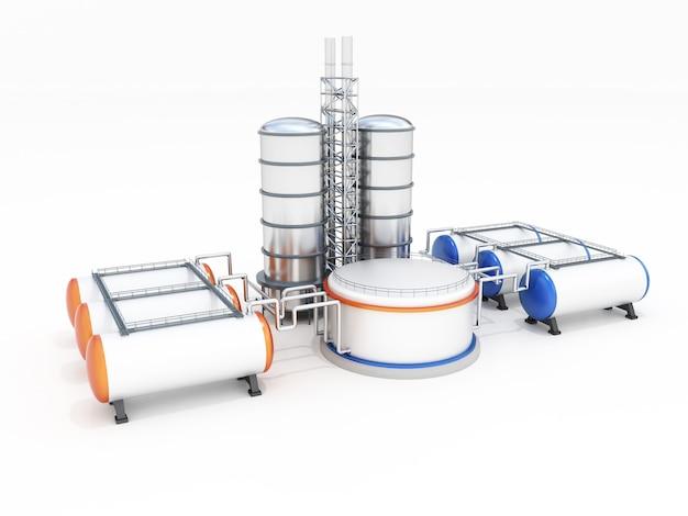 石油工場の3dモデル