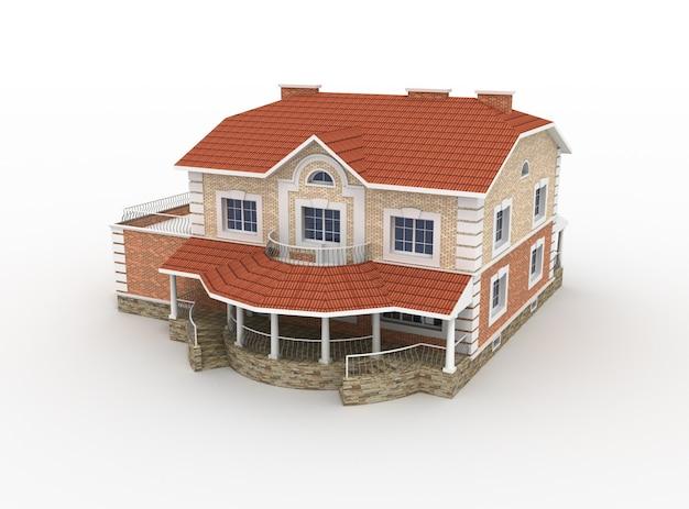 生きている家の3 dモデルのレンダリング