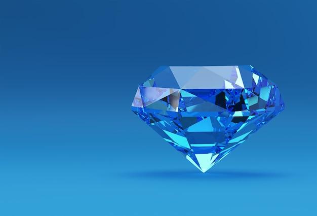 3dモデルシャイニーダイヤモンドイラスト3d画像デザイン。