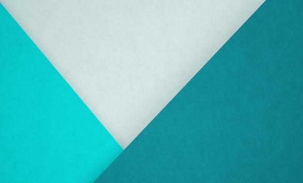 3dモダンな緑がかった青のペーパーカットの抽象的な背景