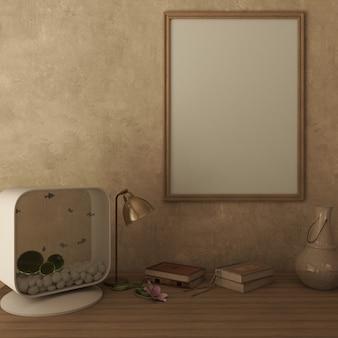 3d modern living roomインテリアとモダンな家具