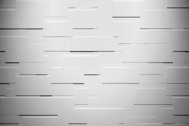 3d 단색 회색 그림입니다. 돌의 회색 벽입니다. 다양한 사각형의 배경