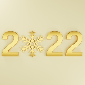 3d new year gold snowflake on gold background