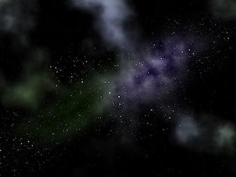 3d night sky with nebula
