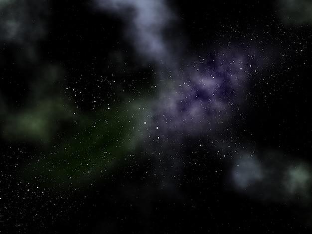 星雲と3d夜空