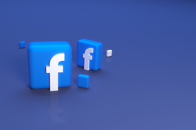 3d значок facebook