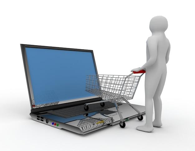 3dオンラインショッピングのコンセプト