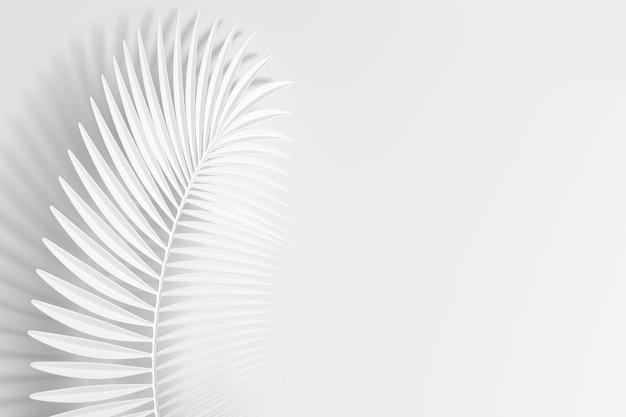 가벼운 깃털처럼 3d 손바닥 곡선 잎