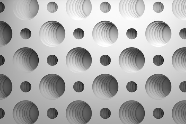 3d pattern with repeating circular holes
