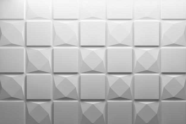 3d pattern with squares and rhombuses