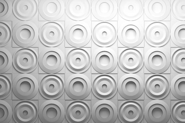 3d pattern with squares and wavy circular round shapes