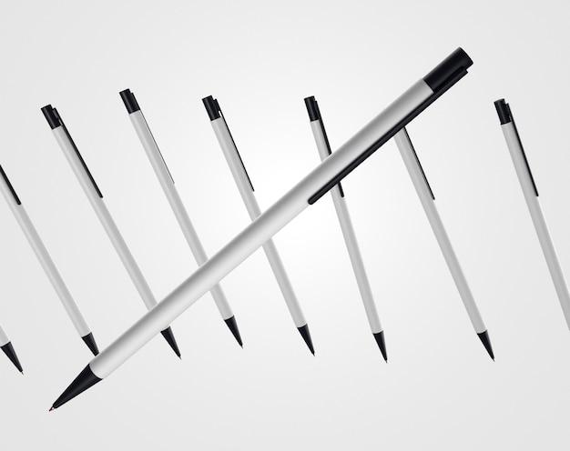 3d-ручка с большим количеством элементов на заднем плане