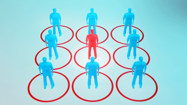 3d people illustration maintain social distance