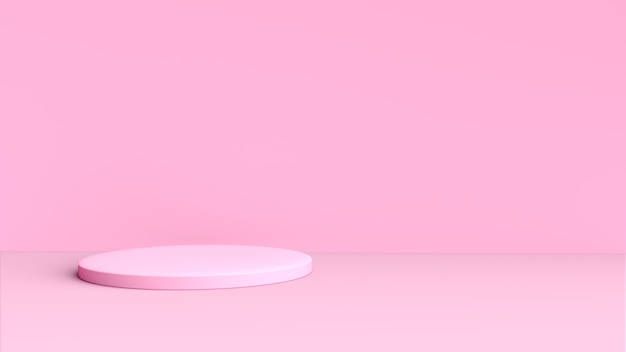 3d pink background with circular shape