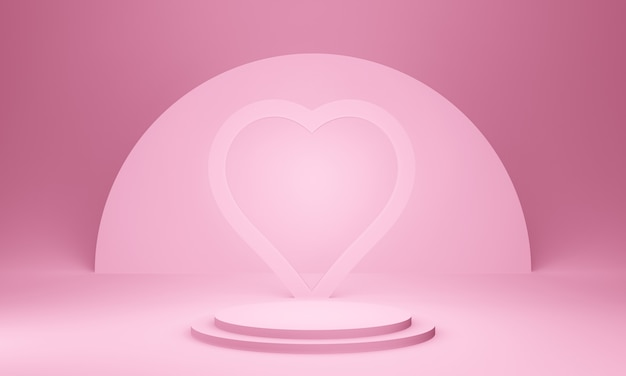 3d-макет сцены pink valentine