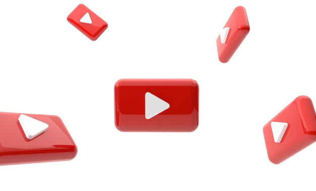 3d play button youtube