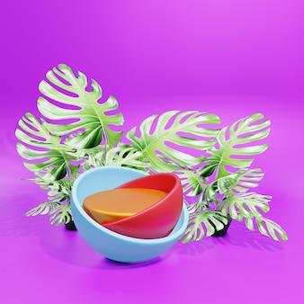 球形スタンド付きの3d表彰台ディスプレイ製品プレゼンテーション