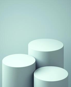 3d подиум для макета презентации продукта, абстрактный фон пастельных тонов, 3d рендеринг