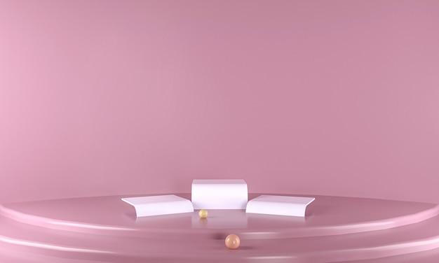 3d подиум розовый фон