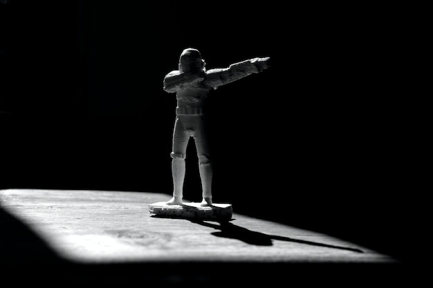 3d printed dabbing stormtrooper, star wars figure