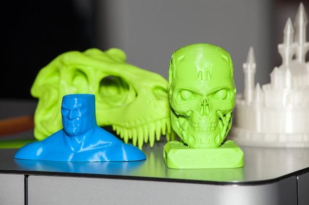 3d printer. the printing process close up