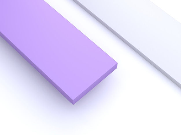 3d purple-violet white background abstract square minimal 3d render