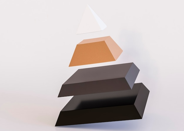 3d pyramid geometric shapes background