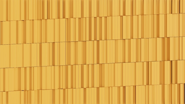 3d 임의 또는 추상 배경 모양 woth 노란색