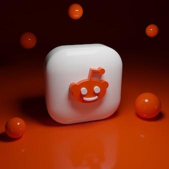 3d reddit logo application