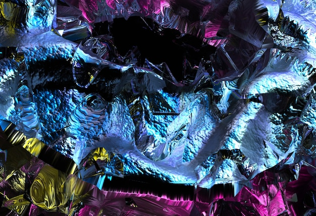 3d render of abstract art of surreal 3d background texture with part of rough grunge damaged surface