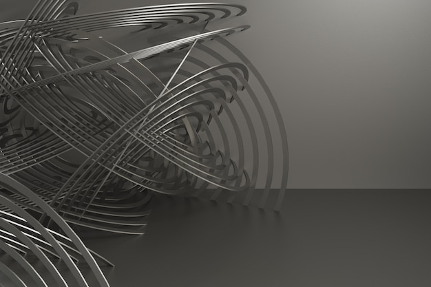3d render abstract background for car